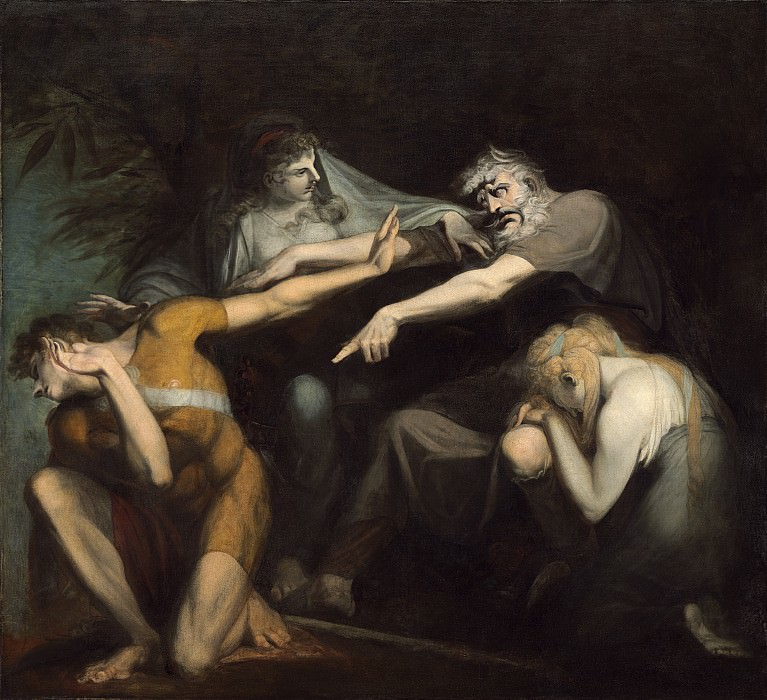 Henry Fuseli - Oedipus Cursing His Son, Polynices. National Gallery of Art (Washington)