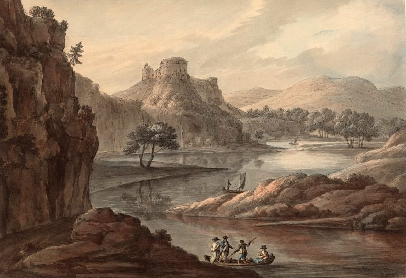 Robert Adam - River Landscape with a Castle. National Gallery of Art (Washington)