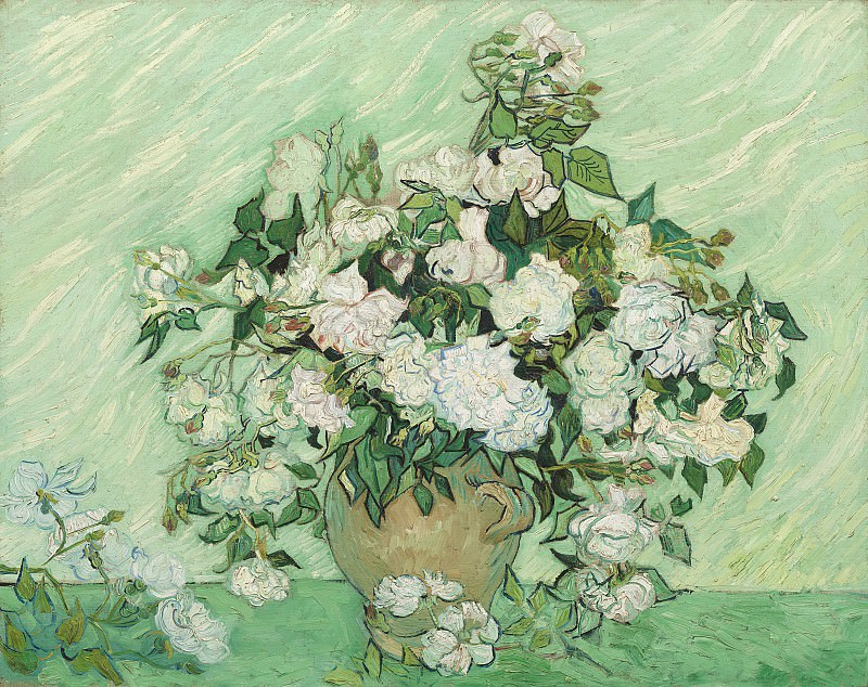 Vincent van Gogh - Roses. National Gallery of Art (Washington)