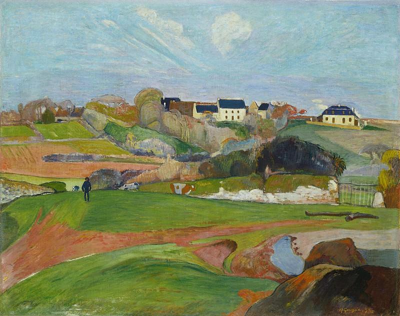 Paul Gauguin - Landscape at Le Pouldu. National Gallery of Art (Washington)
