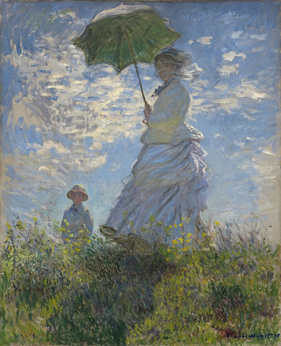 Claude Monet - Woman with a Parasol - Madame Monet and Her Son. National Gallery of Art (Washington)