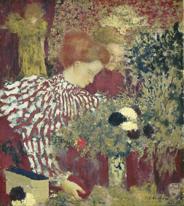 Edouard Vuillard - Woman in a Striped Dress. National Gallery of Art (Washington)