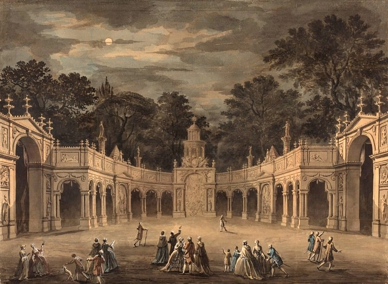 Robert Adam - A Design for Illuminations to Celebrate the Birthday of King George III. National Gallery of Art (Washington)