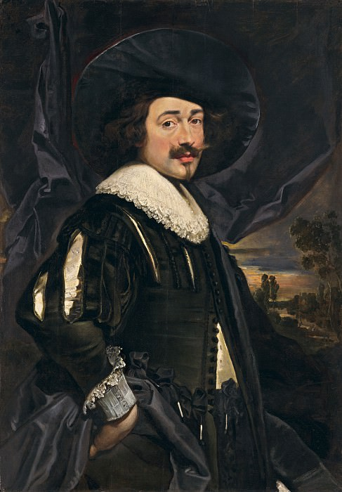 Flemish 17th Century (Possibly Jan Cossiers) - Portrait of a Man in a Wide-Brimmed Hat. National Gallery of Art (Washington)
