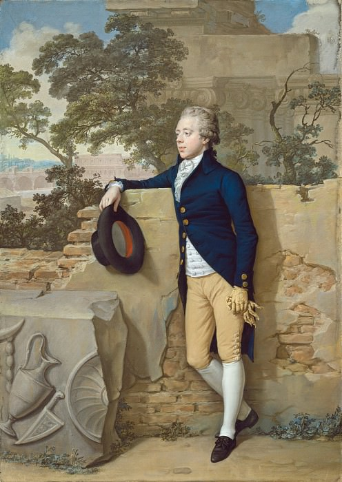 Hugh Douglas Hamilton - Frederick North, Later Fifth Earl of Guilford, in Rome. National Gallery of Art (Washington)