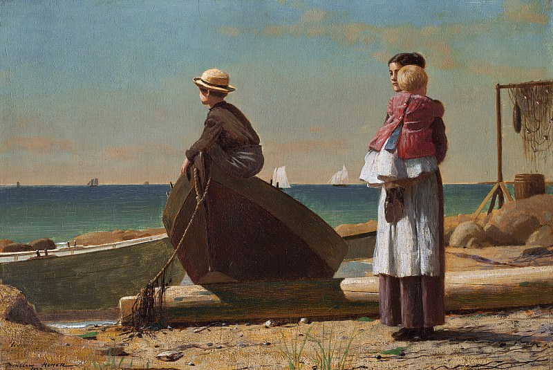 Winslow Homer - Dad's Coming!. National Gallery of Art (Washington)