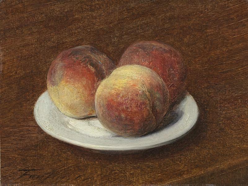 Henri Fantin-Latour - Three Peaches on a Plate. National Gallery of Art (Washington)