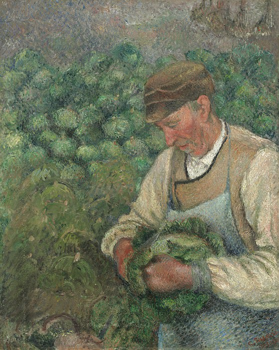 Писсаро, Камиль - Садовник (Старый крестьянин с капустой). Национальная галерея искусств (Вашингтон)