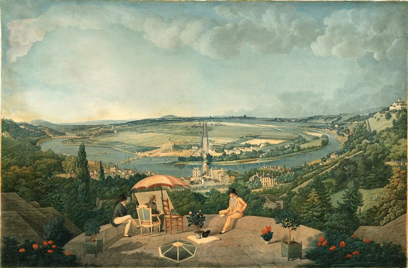 Carle Vernet - View of Paris from the Terrace of the Pavillon de Brimborion. National Gallery of Art (Washington)