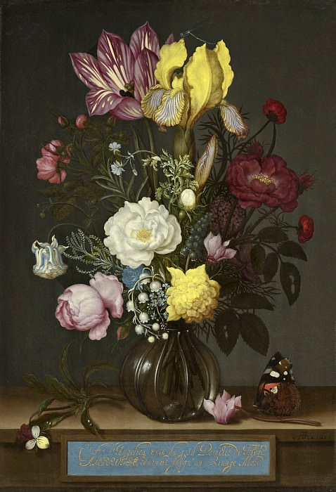 Ambrosius Bosschaert the Elder - Bouquet of Flowers in a Glass Vase. National Gallery of Art (Washington)