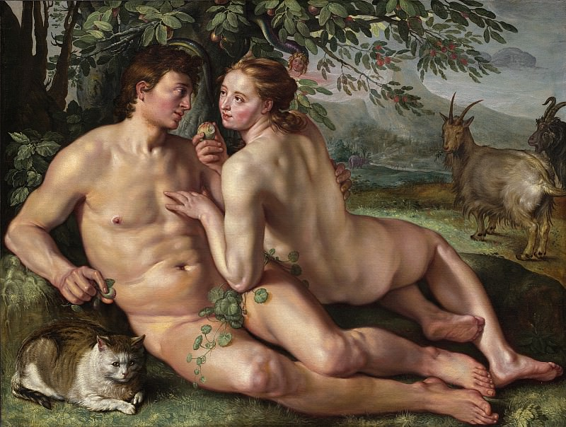 Hendrik Goltzius - The Fall of Man. National Gallery of Art (Washington)