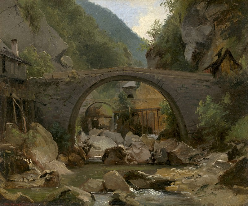 Theodore Rousseau - Mountain Stream in the Auvergne. National Gallery of Art (Washington)