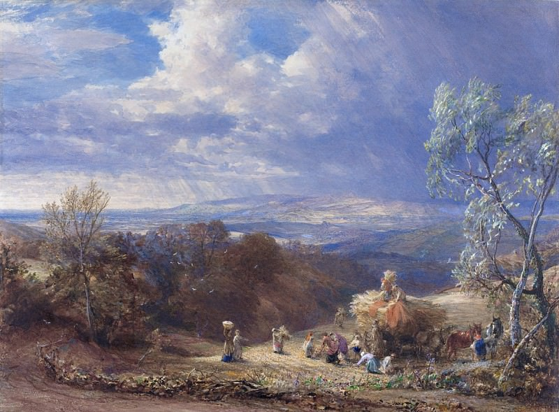 Samuel Palmer - Harvesting. National Gallery of Art (Washington)