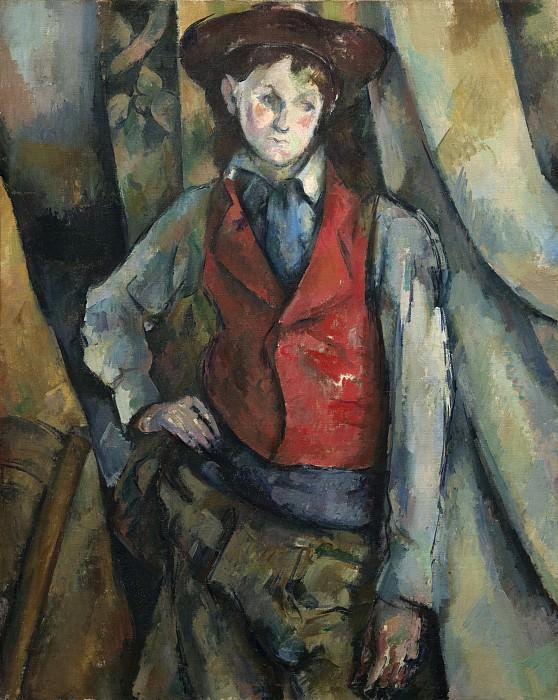Paul Cezanne - Boy in a Red Waistcoat. National Gallery of Art (Washington)