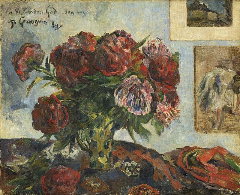 Гоген, Поль - Натюрморт с пионами. Национальная галерея искусств (Вашингтон)