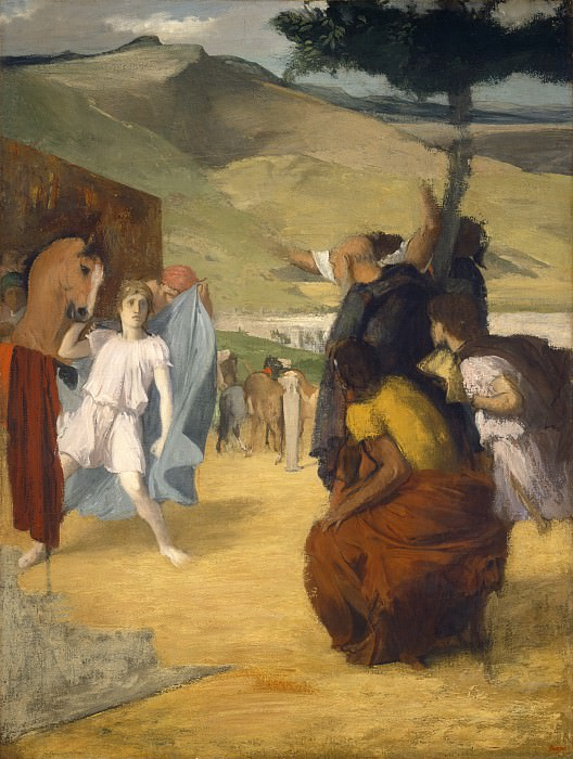 Edgar Degas - Alexander and Bucephalus. National Gallery of Art (Washington)