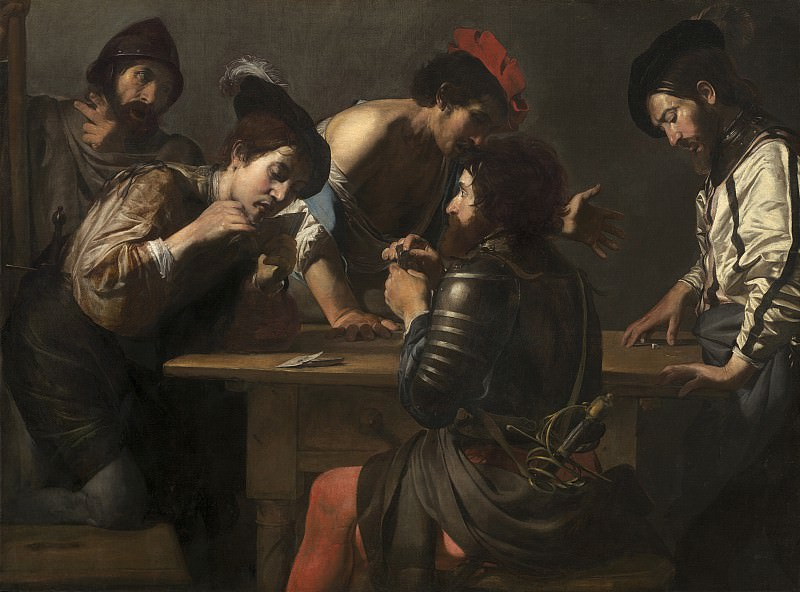 Valentin de Boulogne - Soldiers Playing Cards and Dice (The Cheats). National Gallery of Art (Washington)