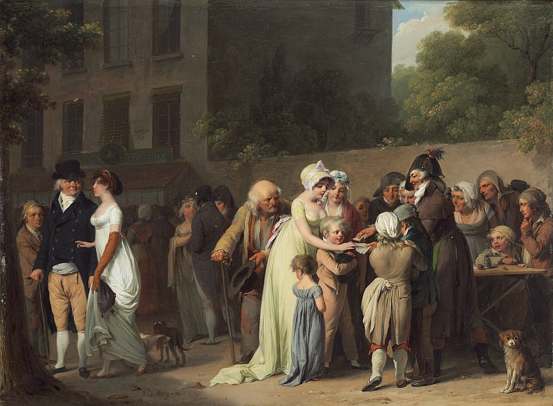 Louis-Leopold Boilly - The Card Sharp on the Boulevard. National Gallery of Art (Washington)