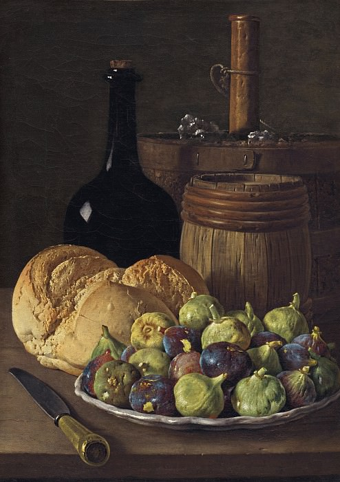 Luis Melendez - Still Life with Figs and Bread. National Gallery of Art (Washington)