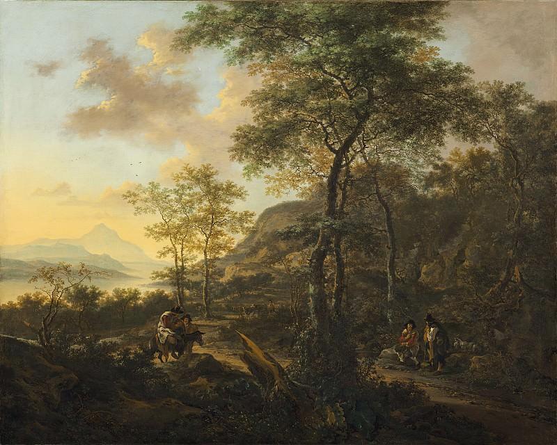 Jan Both - An Italianate Evening Landscape. National Gallery of Art (Washington)