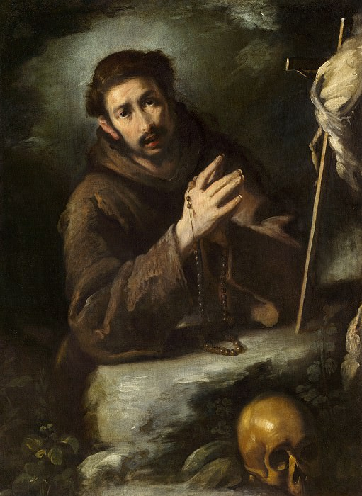 Bernardo Strozzi - Saint Francis in Prayer. National Gallery of Art (Washington)