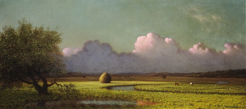 Martin Johnson Heade - Sunlight and Shadow: The Newbury Marshes. National Gallery of Art (Washington)