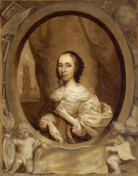 Cornelis Jonson van Ceulen - Anna Maria van Schurman. National Gallery of Art (Washington)