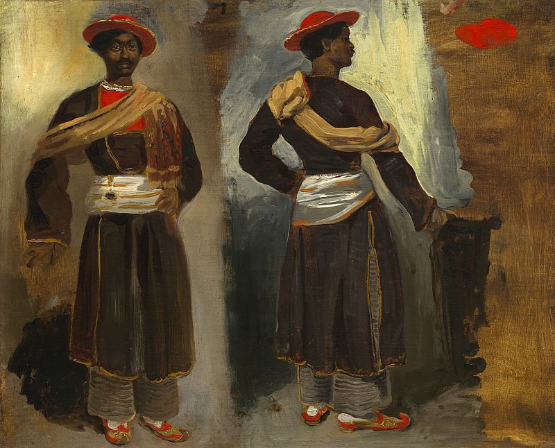 Eugene Delacroix - Two Studies of a Standing Indian from Calcutta. National Gallery of Art (Washington)