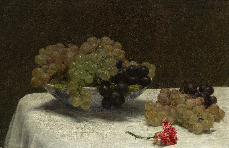 Henri Fantin-Latour - Still Life with Grapes and a Carnation. National Gallery of Art (Washington)