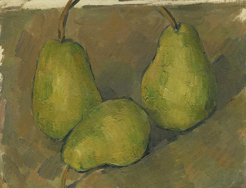 Paul Cezanne - Three Pears. National Gallery of Art (Washington)