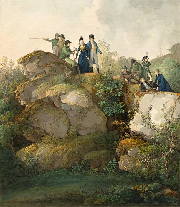 Диллис, Иоганн Георг фон - Королевская свита любуется закатом на вершине горы Хессельберг. Национальная галерея искусств (Вашингтон)