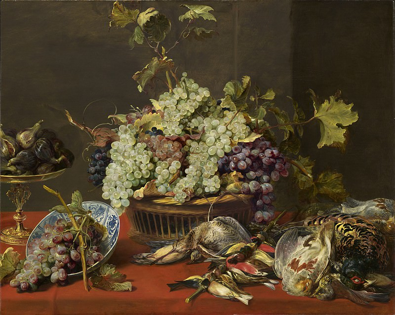 Frans Snyders - Still Life with Grapes and Game. National Gallery of Art (Washington)