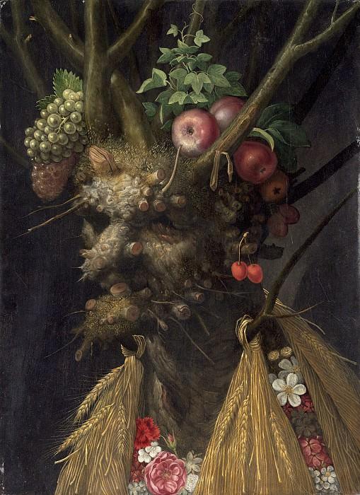 Giuseppe Arcimboldo - Four Seasons in One Head. National Gallery of Art (Washington)