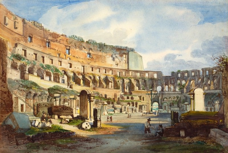 Ippolito Caffi - Interior of the Colosseum. National Gallery of Art (Washington)