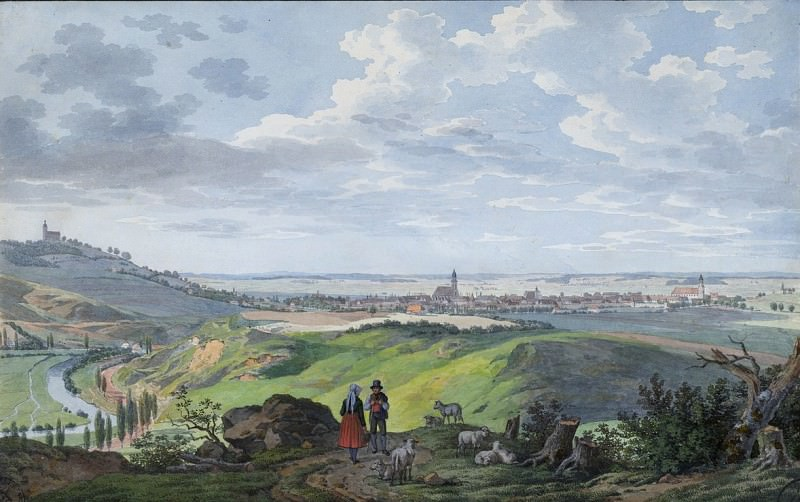Carl Heinzmann - The City of Arnberg in the Oberpfalz. National Gallery of Art (Washington)