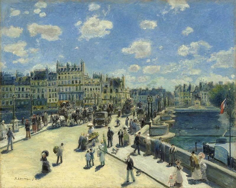 Auguste Renoir - Pont Neuf, Paris. National Gallery of Art (Washington)