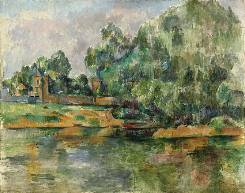 Paul Cezanne - Riverbank. National Gallery of Art (Washington)