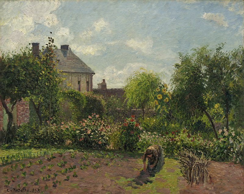 Camille Pissarro - The Artist's Garden at Eragny. National Gallery of Art (Washington)