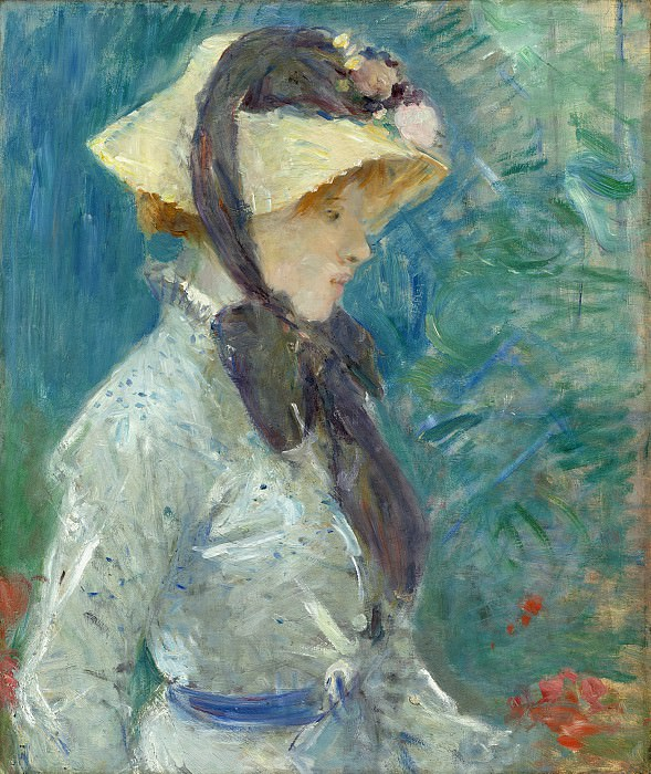 Berthe Morisot - Young Woman with a Straw Hat. National Gallery of Art (Washington)