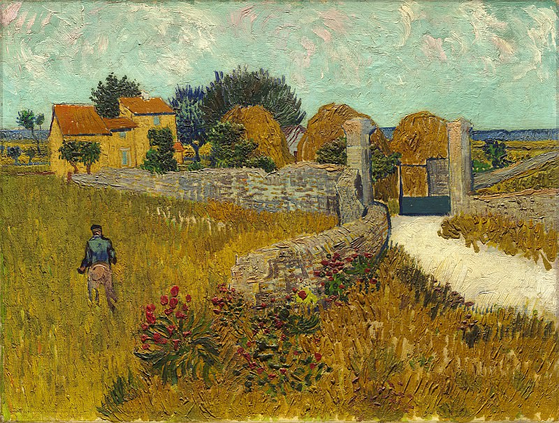 Vincent van Gogh - Farmhouse in Provence. National Gallery of Art (Washington)