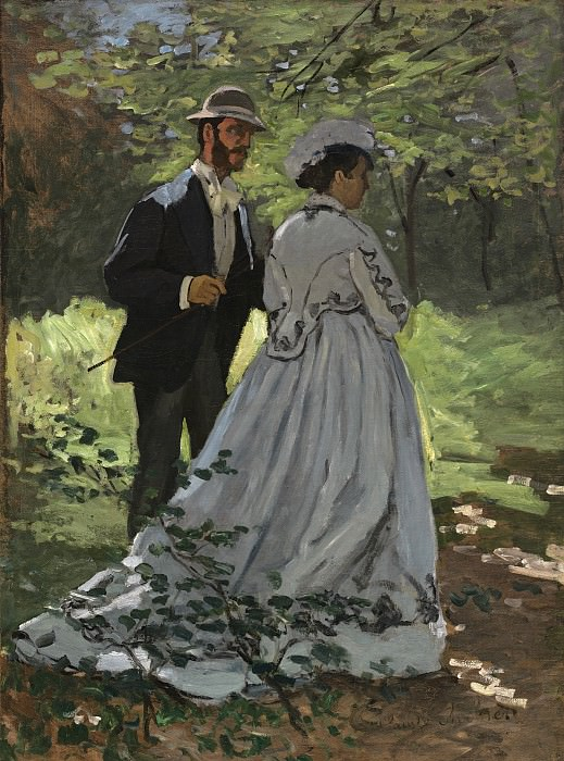 Claude Monet - Bazille and Camille (Study for «Dejeuner sur l'Herbe»). National Gallery of Art (Washington)