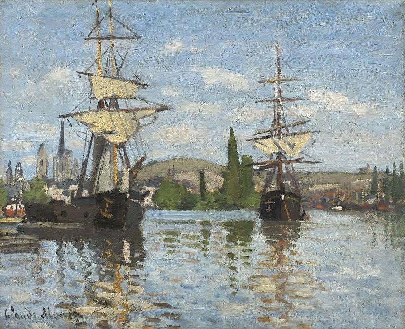 Claude Monet - Ships Riding on the Seine at Rouen. National Gallery of Art (Washington)