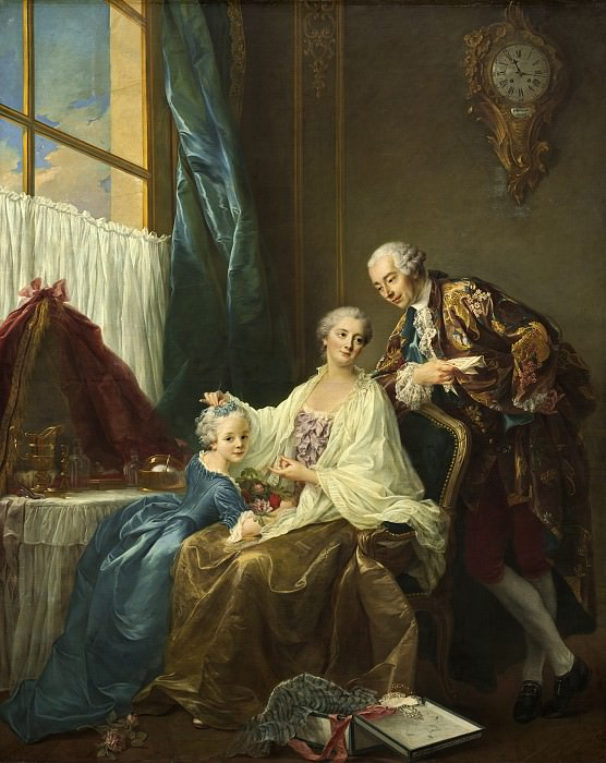 Francois-Hubert Drouais - Family Portrait. National Gallery of Art (Washington)