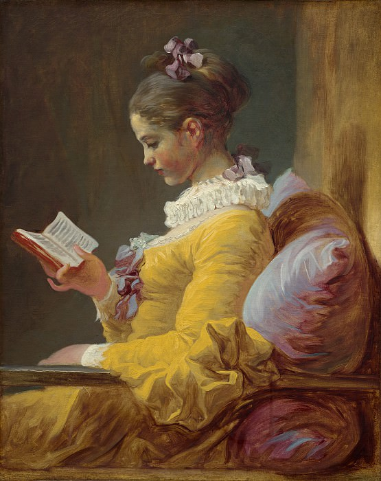 Young Girl Reading. Jean Honore Fragonard