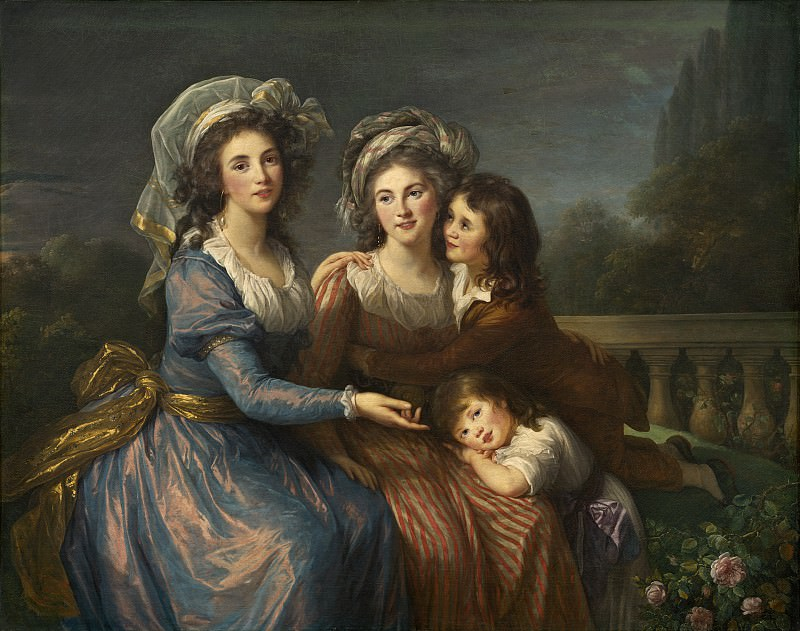The Marquise de Pezay, and the Marquise de Rouge with Her Sons Alexis and Adrien. Élisabeth Louise Vigée Le Brun