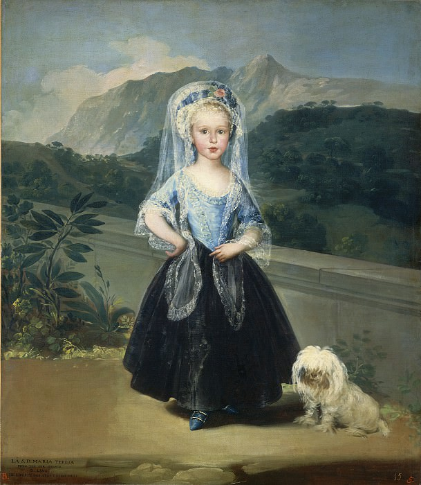 Francisco de Goya - Maria Teresa de Borbon y Vallabriga, later Condesa de Chinchon. National Gallery of Art (Washington)