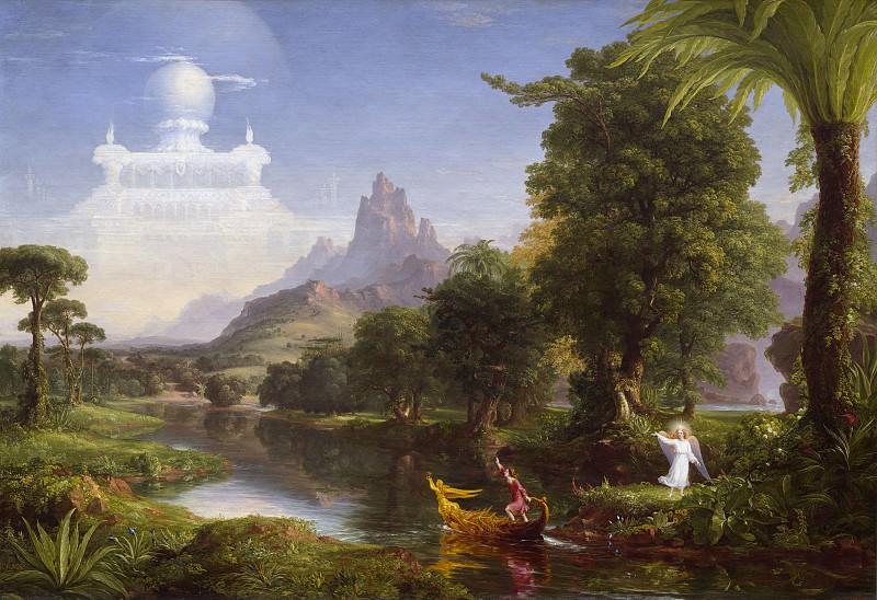 Thomas Cole - The Voyage of Life: Youth. National Gallery of Art (Washington)