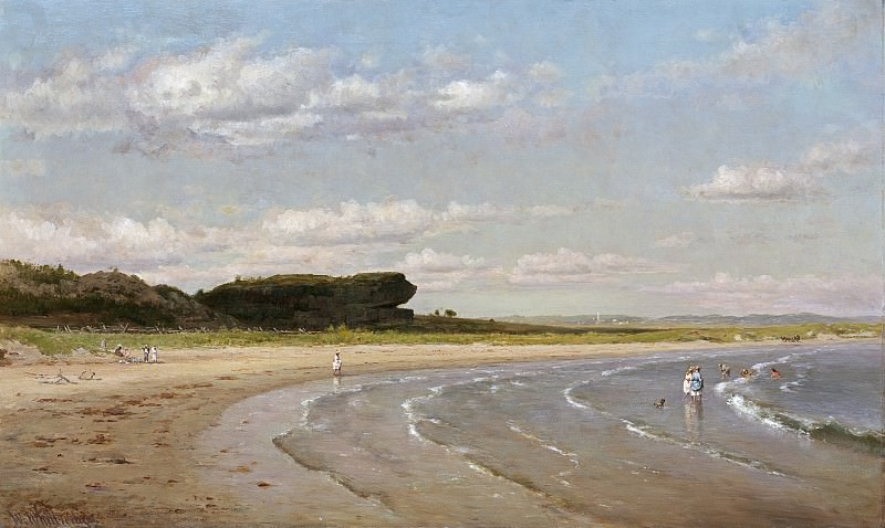 Worthington Whittredge - Second Beach, Newport. National Gallery of Art (Washington)