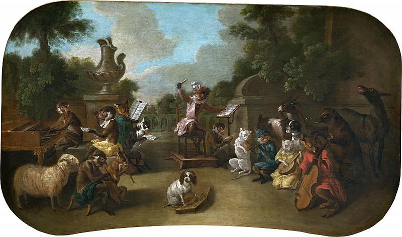 Christophe Huet - Singerie: The Concert. National Gallery of Art (Washington)