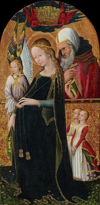 Французская школа, 15 век - Беременная Мадонна со Святым Иосифом. Национальная галерея искусств (Вашингтон)